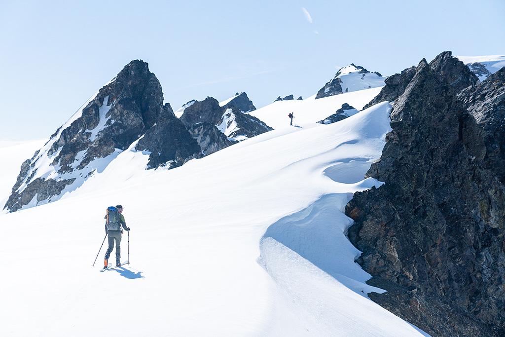 Skiing Kololo Peaks
