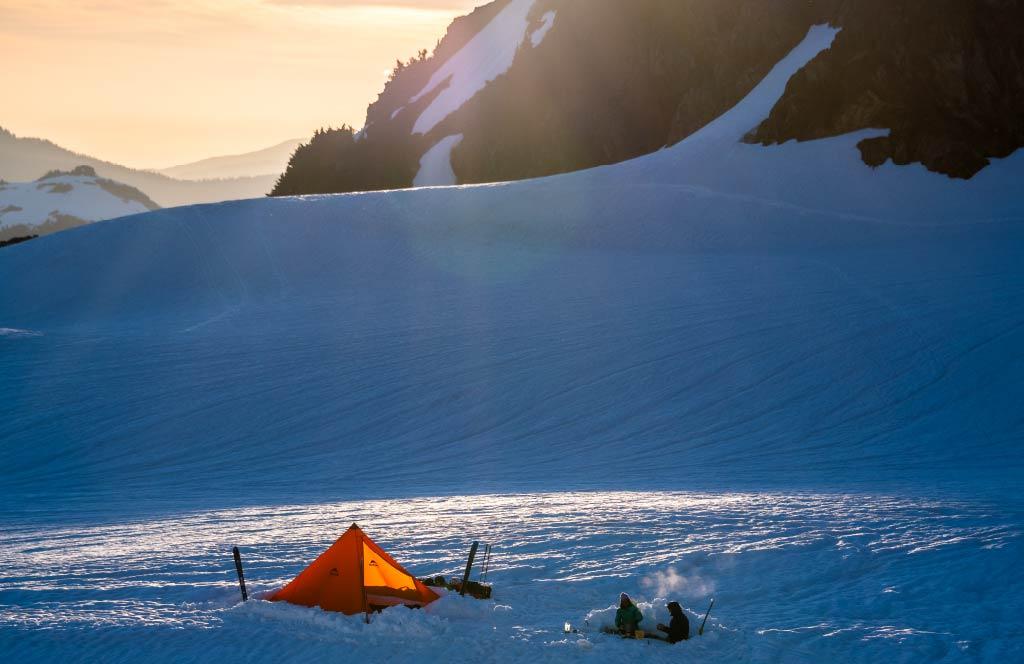 Front Range Tent in Snow