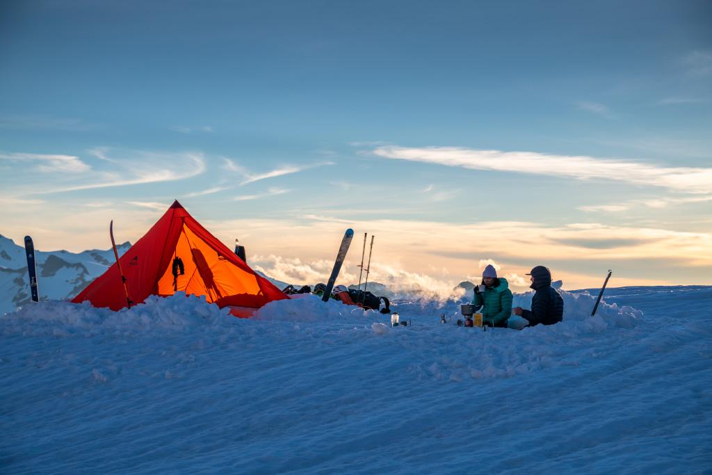 Front Range tarp shelter in snow