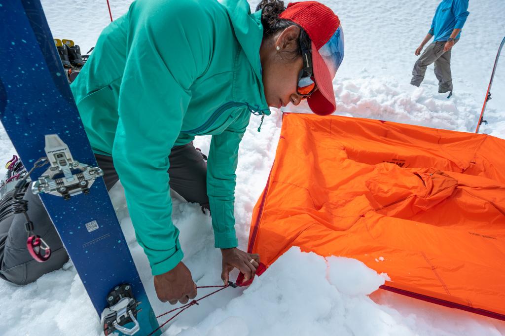 Front Range setup with skiis