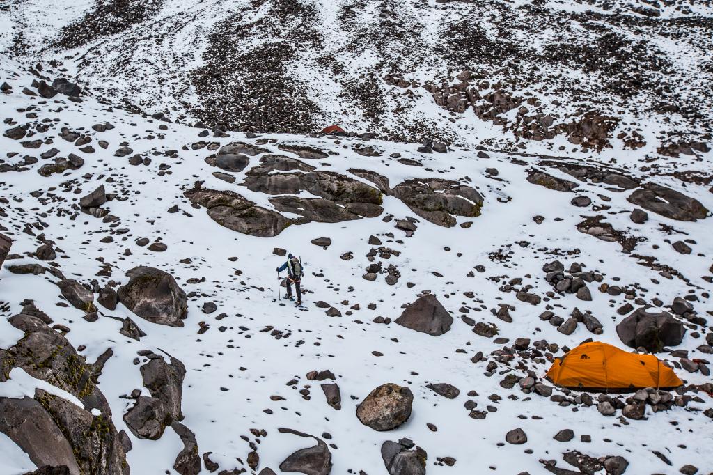 rocky high altitude climb