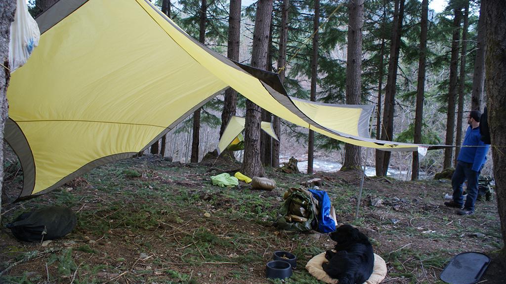 minimalist camping tarp