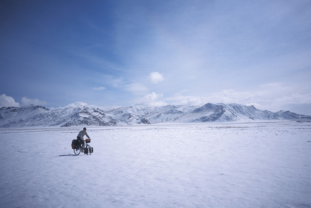 cycling around the world in snow