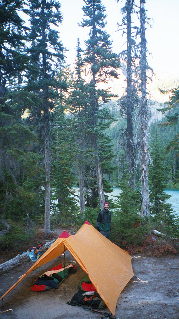 camping with tarp