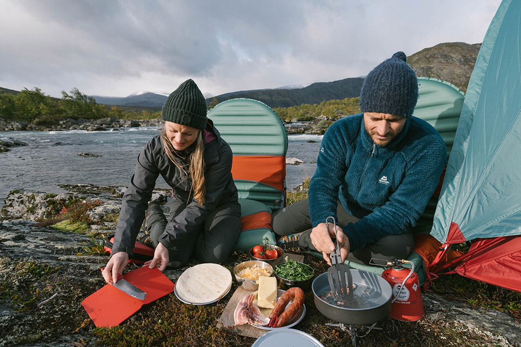folding cookware in backcountry