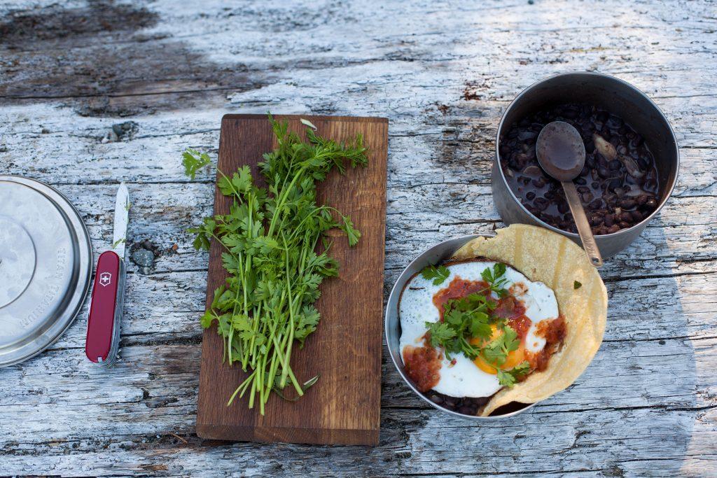 Black Bean Huevos Rancheros camping recipe