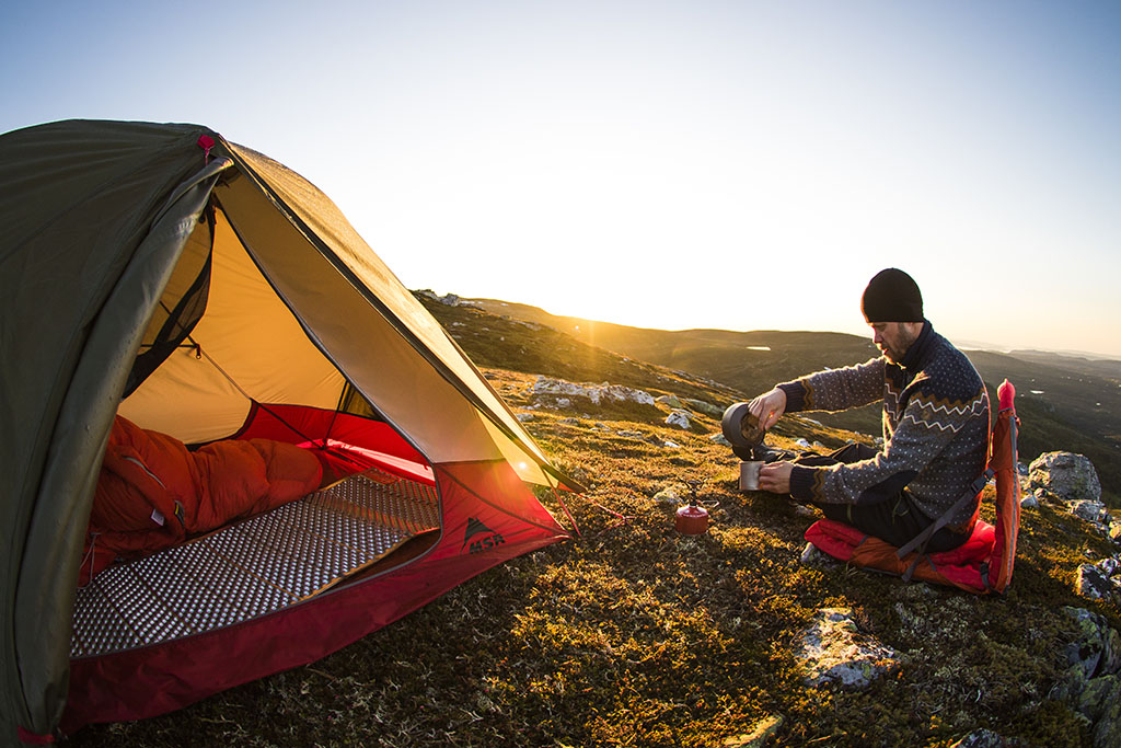 coffee in backcountry