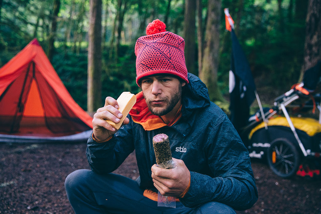 backpacking cheese and sausage