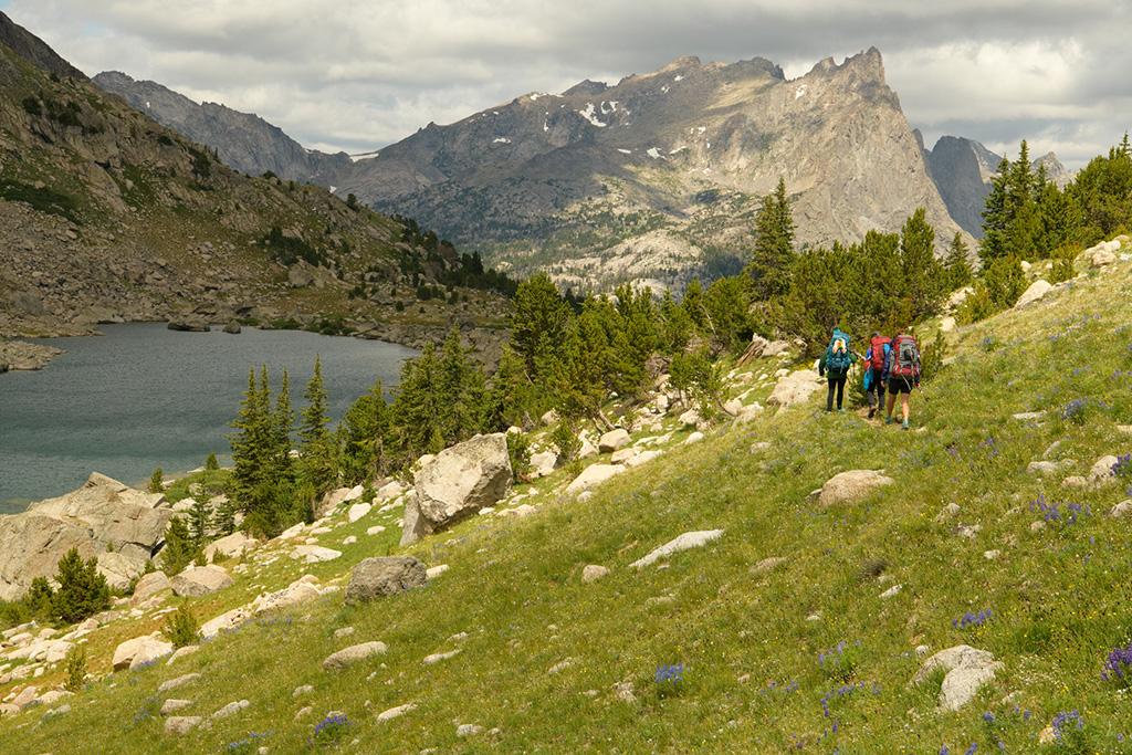 hiking Wind River Range