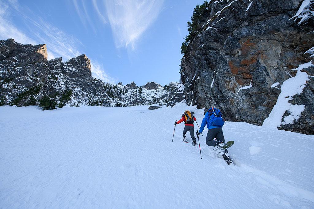 snowshoeing avalanche terrain