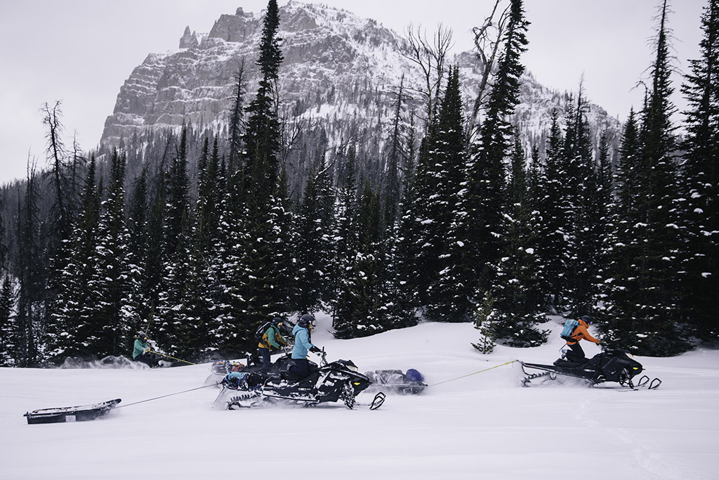 snowmobiling in backcountry