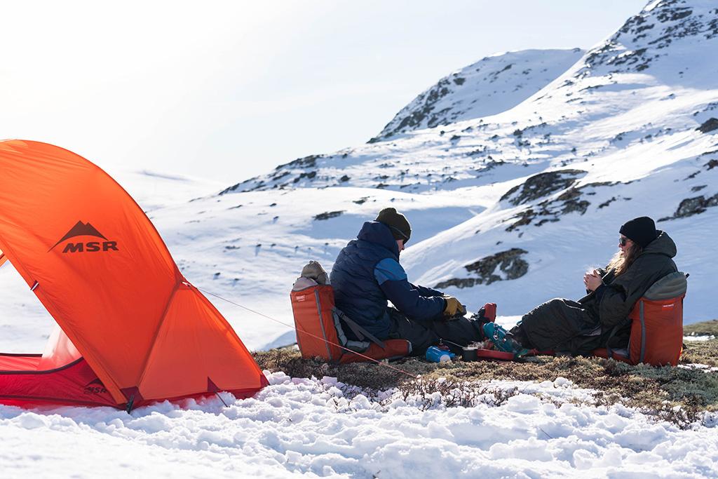 drinking in backcountry in winter
