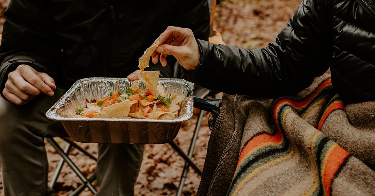 vegetarian camping recipe nachos