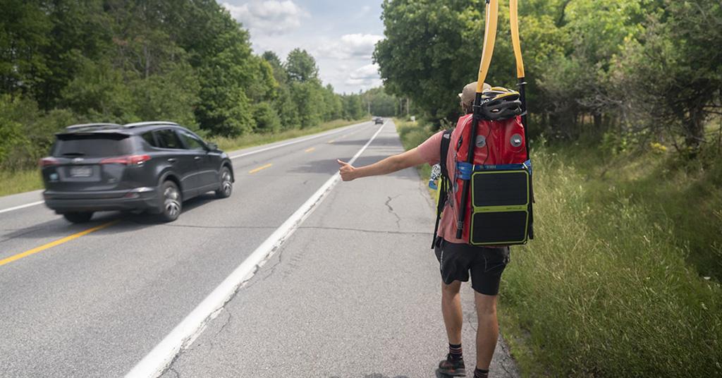 hitchhiking along hudson river