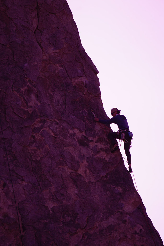climbing guide on route