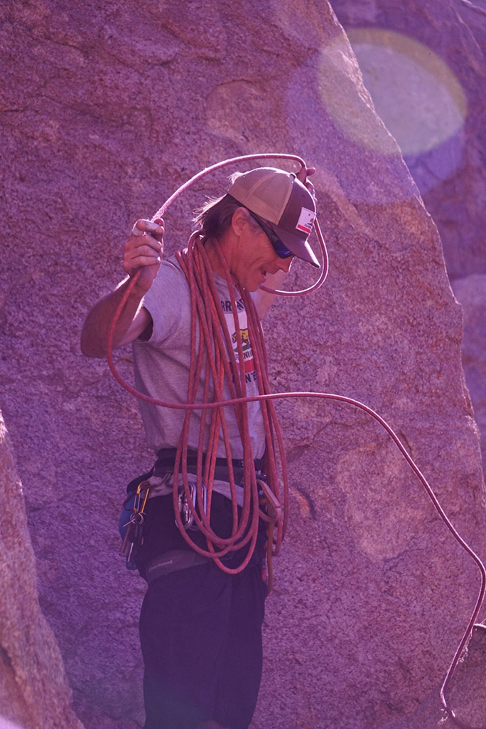 climbing guide with gear