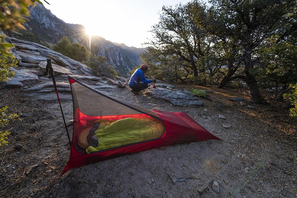 minimalist mesh house tent