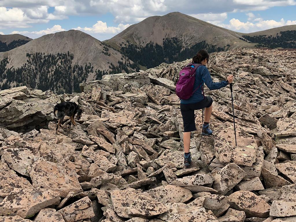 carrying heavy gear mountain climbing