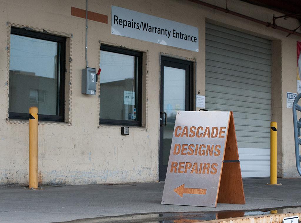 cascade design repair shop