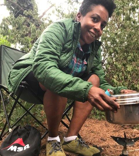 cooking in the outdoors