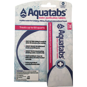 AquaTabs | Water Purification Tablets | 30 Pack