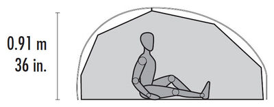 FreeLite™ 2 Ultralight Backpacking Tent - Interior
