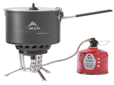 MSR WindBurner® Stove System Combo - 2.5L Sauce Pot + Remote Stove (canister not included)