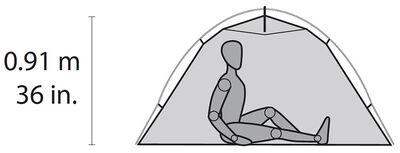 MSR Hubba NX Tent Floor Plan 1