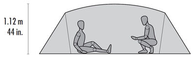 MSR Mutha Hubba NX Tent Floor Plan 02