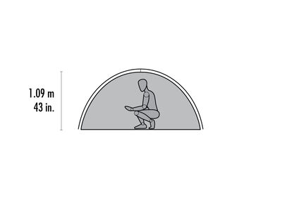 Zoic™ 3 Backpacking Tent - Floor Plan