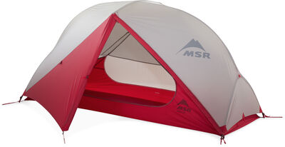 MSR Hubba NX Backpacking Tent - Rainfly Door Open