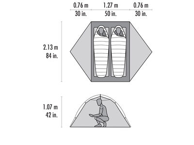 Access™ 2 Two-Person, Four-Season Ski Touring Tent, , large