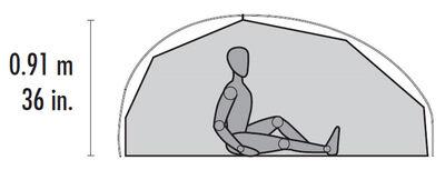 FreeLite™ 1 Ultralight Backpacking Tent - Interior