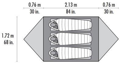 MSR Mutha Hubba NX Tent- Floor Plan 01